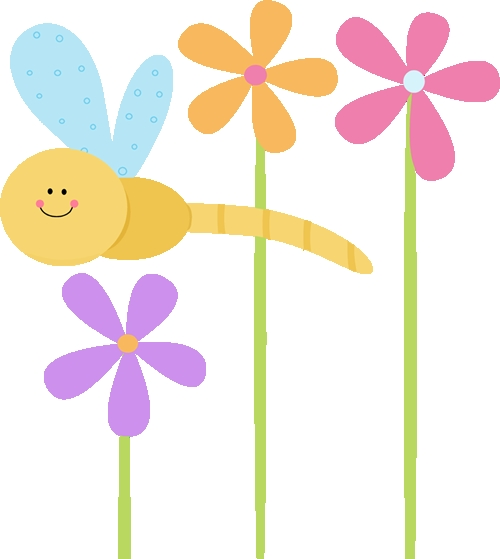 500x559 Cute Flower Clipart Dragonfly Clip Art Dragonfly And Flowers Clip