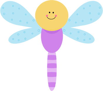 350x307 Cute Purple Dragonfly Clip Art