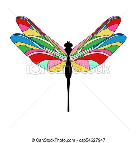 450x470 Funny Cartoon Illustration Of Dragonfly. Bright Dragonfly Eps