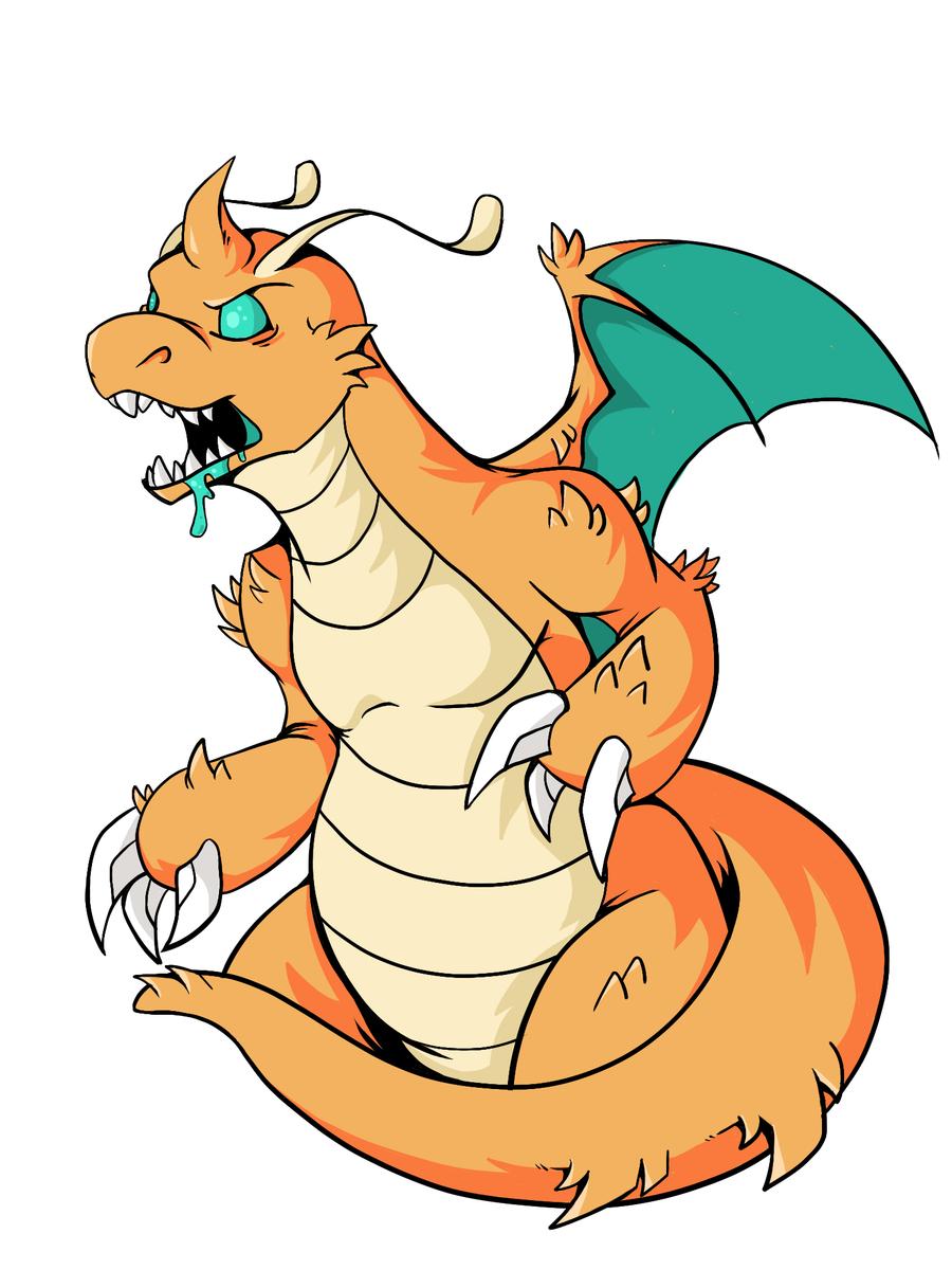 900x1200 Kaiju! Dragonite By Knoxus