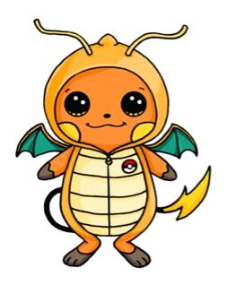 253x318 Raichu In A Dragonite Onesie Pokemon Onesie
