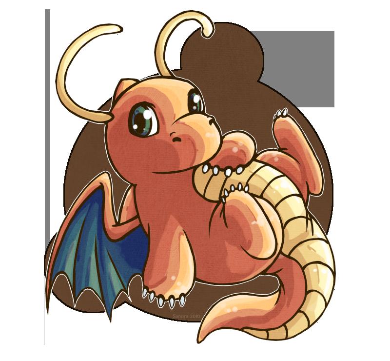800x740 Xmas Gift A Chibi Dragonite By Fox Song