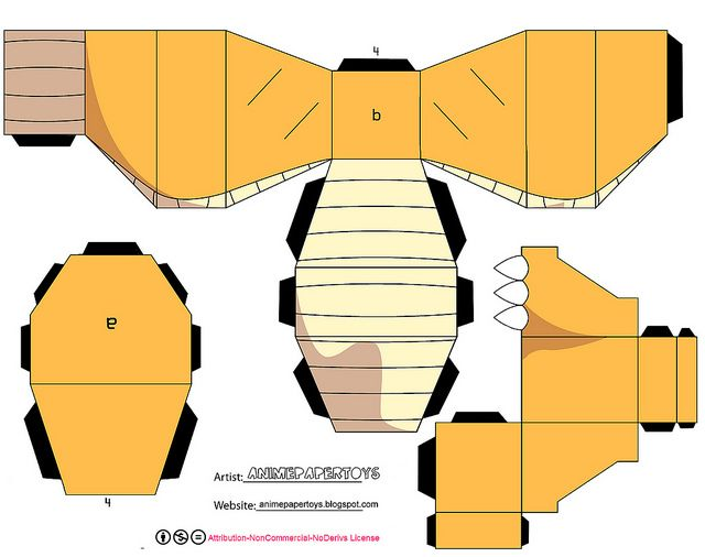640x506 Dragonite (Pokemon) Paper Toys And Papercraft