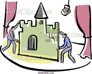 300x242 Stage Hands Setting Up Props Vector Clip Art