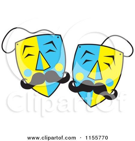450x470 Royalty Free (Rf) Clipart Of Drama Masks, Illustrations, Vector
