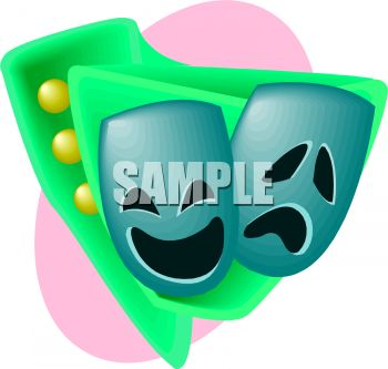 350x333 Royalty Free Clip Art Image Happy And Sad Theater Masks