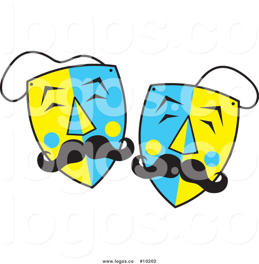 1024x1044 Royalty Free Clip Art Vector Blue And Yellow Mustached Theater