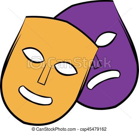 450x428 Theater Masks Icon Cartoon. Theater Icon In Cartoon Style Clip