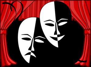 299x219 Theatre Masks Clip Art