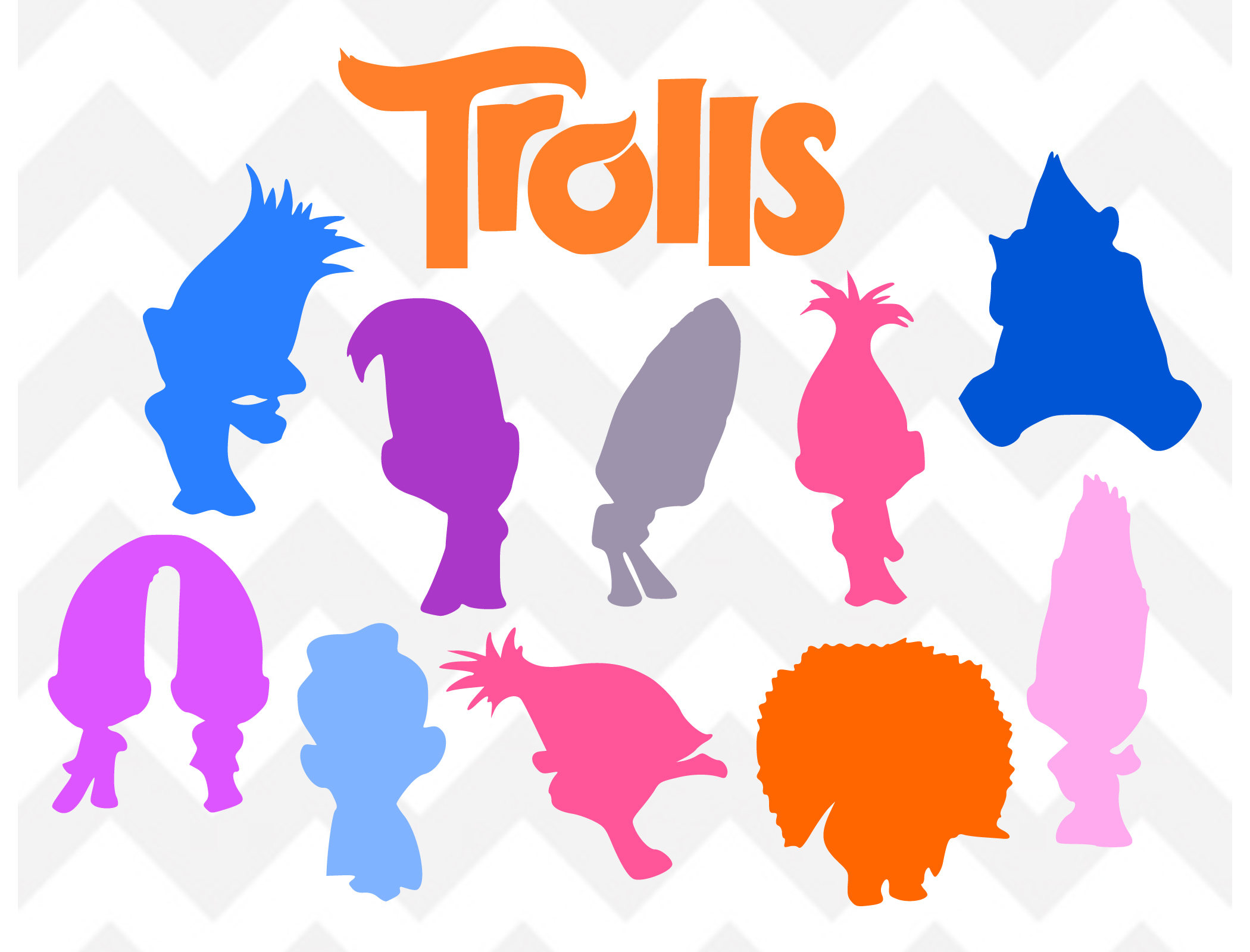 2100x1600 Collection Of Trolls Clipart Silhouette High Quality, Free