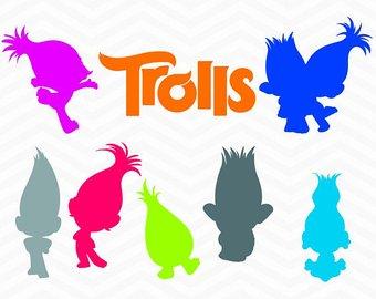 340x270 Troll Hair Clipart Etsy