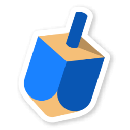 256x256 Dreidel Icon Swarm App Sticker Iconset Sonya