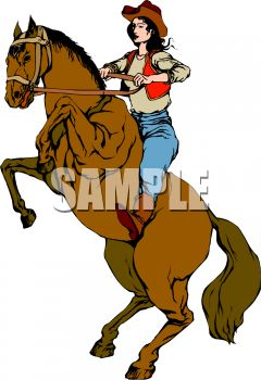 240x350 Cowgirl Horse Clipart, Explore Pictures