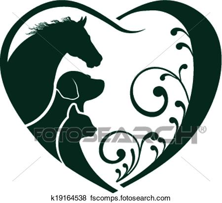 450x411 Horse And Dog Clipart