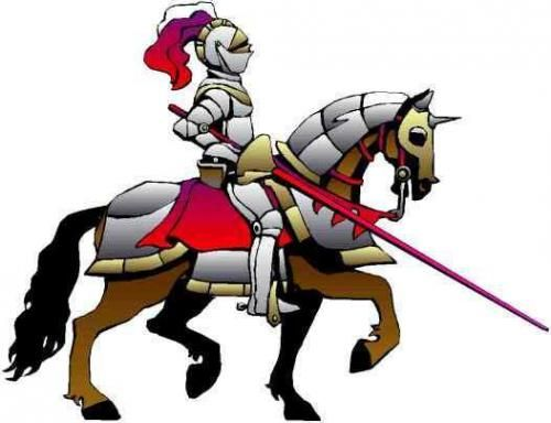500x384 Collection Of Knight On Horse Clipart High Quality, Free