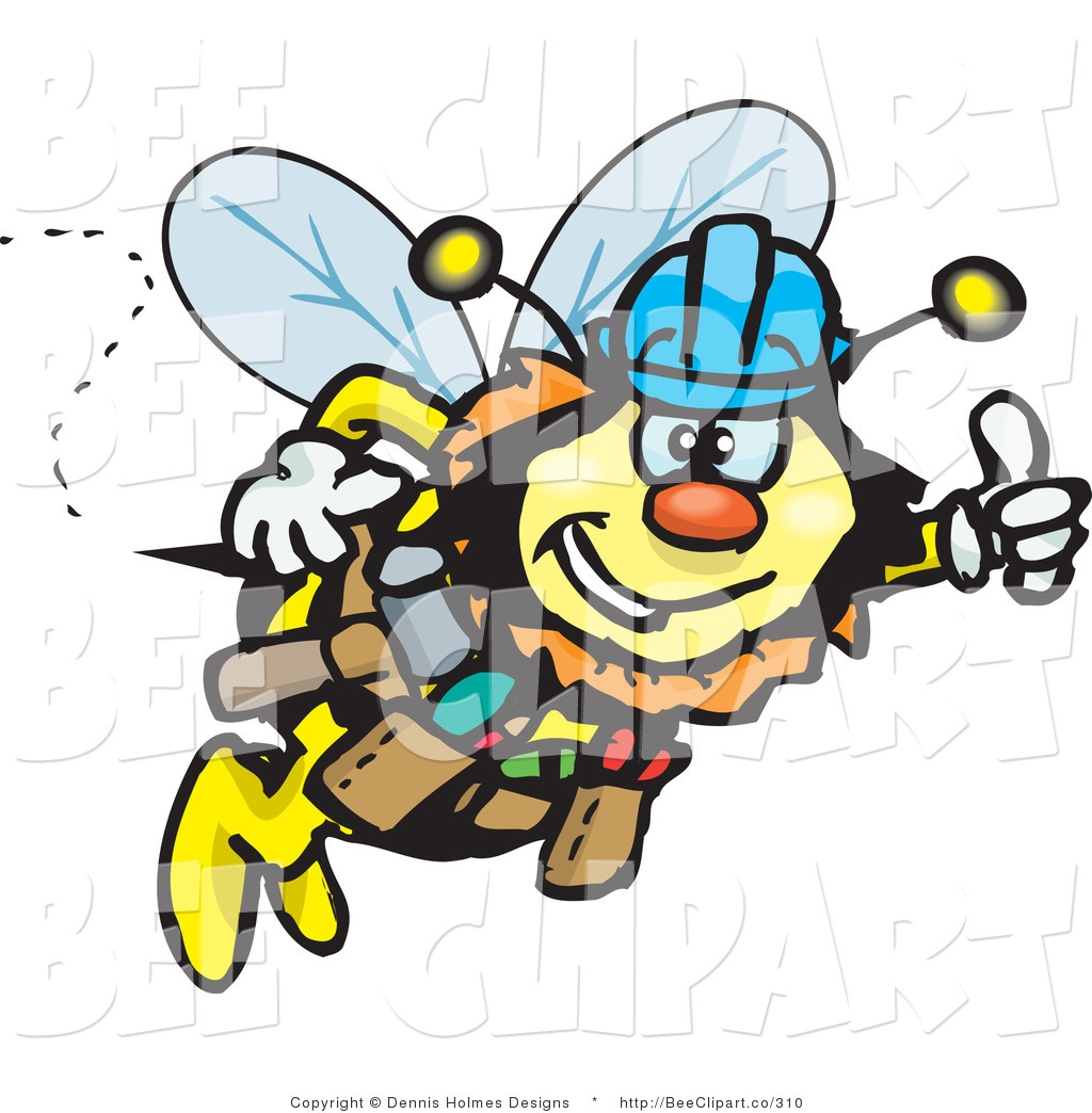 1024x1044 Clip Art Vector Clip Art Of A Honey Bee Drone Character