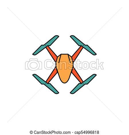 450x470 Drone Cartoon Vector Icon. Drone Icon In Cartoon Colorful