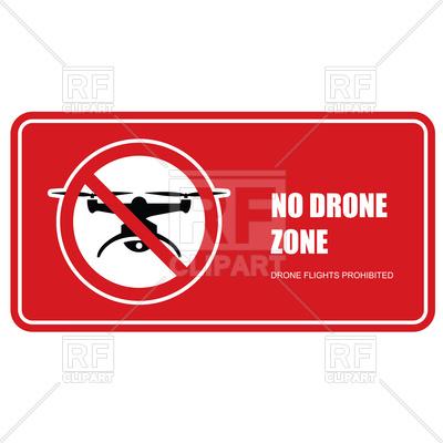 400x400 No Drone Zone Sign