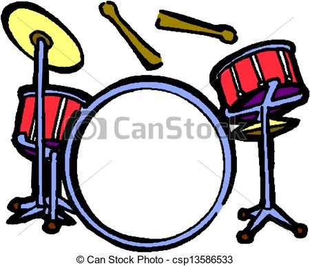 450x387 Colouful Clipart Drum Set
