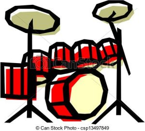 300x270 Drum Set Clipart Drum Set Eps Vector Search Clip Art Illustration