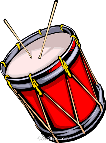 357x480 Drum With Drum Sticks Royalty Free Vector Clip Art Illustration