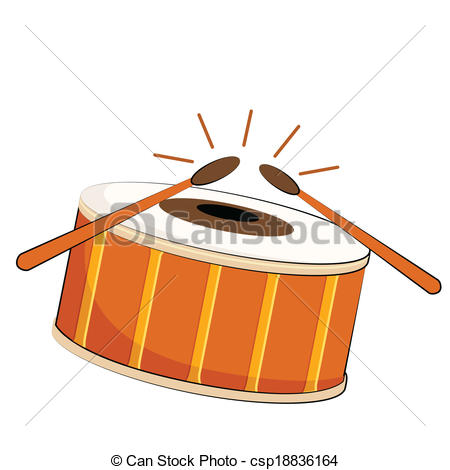 450x470 Vector Illustration Of Musical Drum On Isolated Background Clip