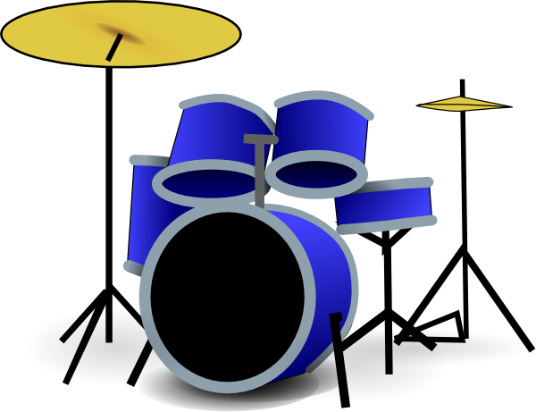 600x461 Blue Drum Set Clip Art