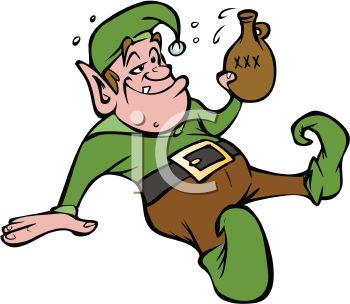 350x304 Cartoon Of A Drunk Elf