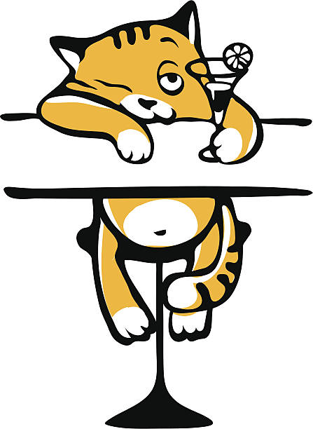 447x612 Drunk Cat Clipart Royalty Free Clip Art Vector Images