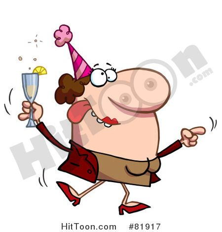 450x470 Royalty Free (Rf) Clipart Illustration Of A Drunk Dancing Lady