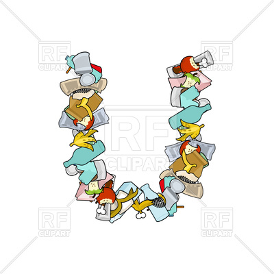 400x400 Letter U Rubbish Font Royalty Free Vector Clip Art Image