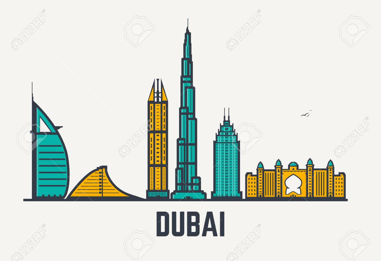 1300x893 Collection Of Dubai Buildings Clipart High Quality, Free