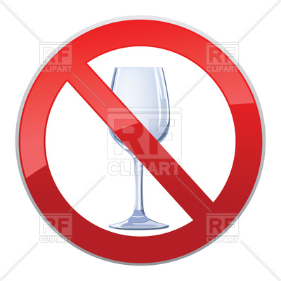 400x400 No Alcohol Drink Sign