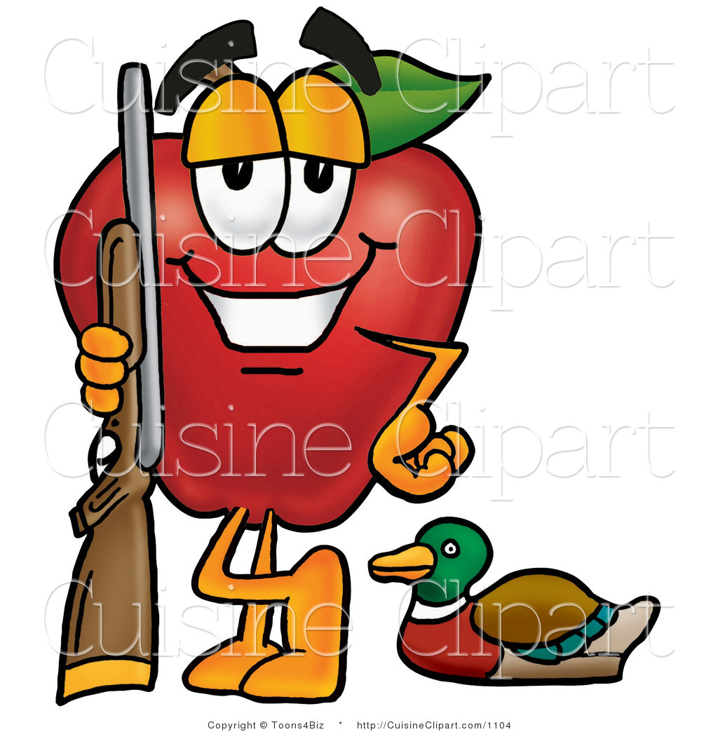 1024x1044 Cuisine Clipart Of A Healthy Red Apple Character Mascot Duck