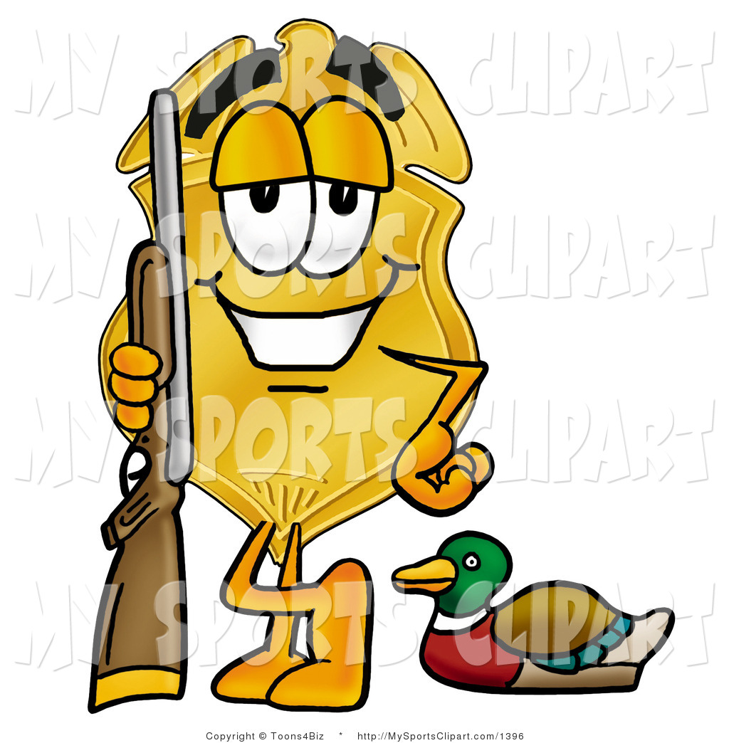 1024x1044 Sports Clip Art Of A Gold Badge Mascot Cartoon Character Duck