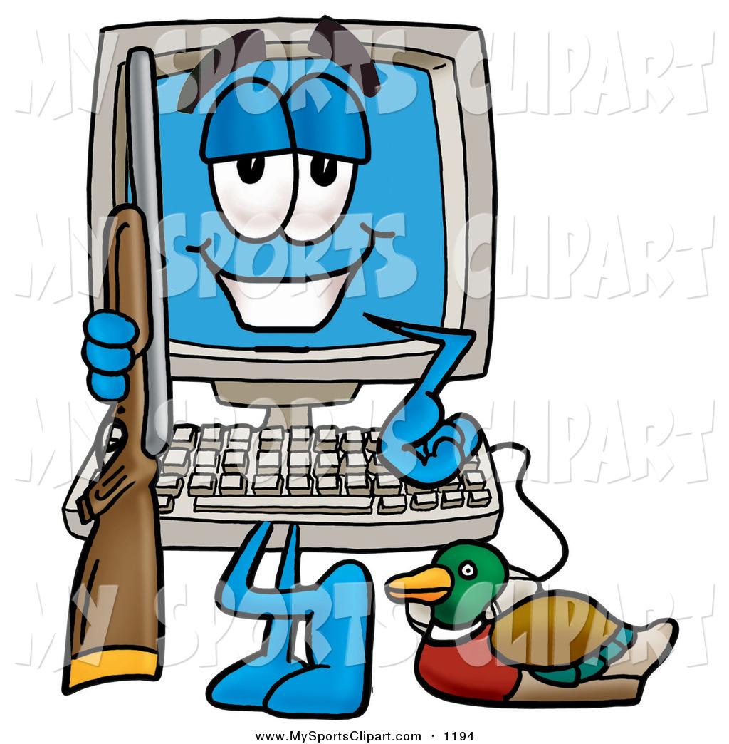1024x1044 Sports Clip Art Of A Happy Desktop Computer Mascot Cartoon
