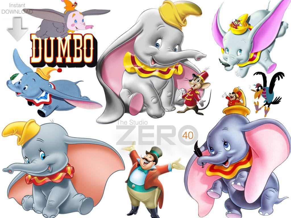1024x768 40 Disney Dumbo Clipart, Instant Download, 300dpi