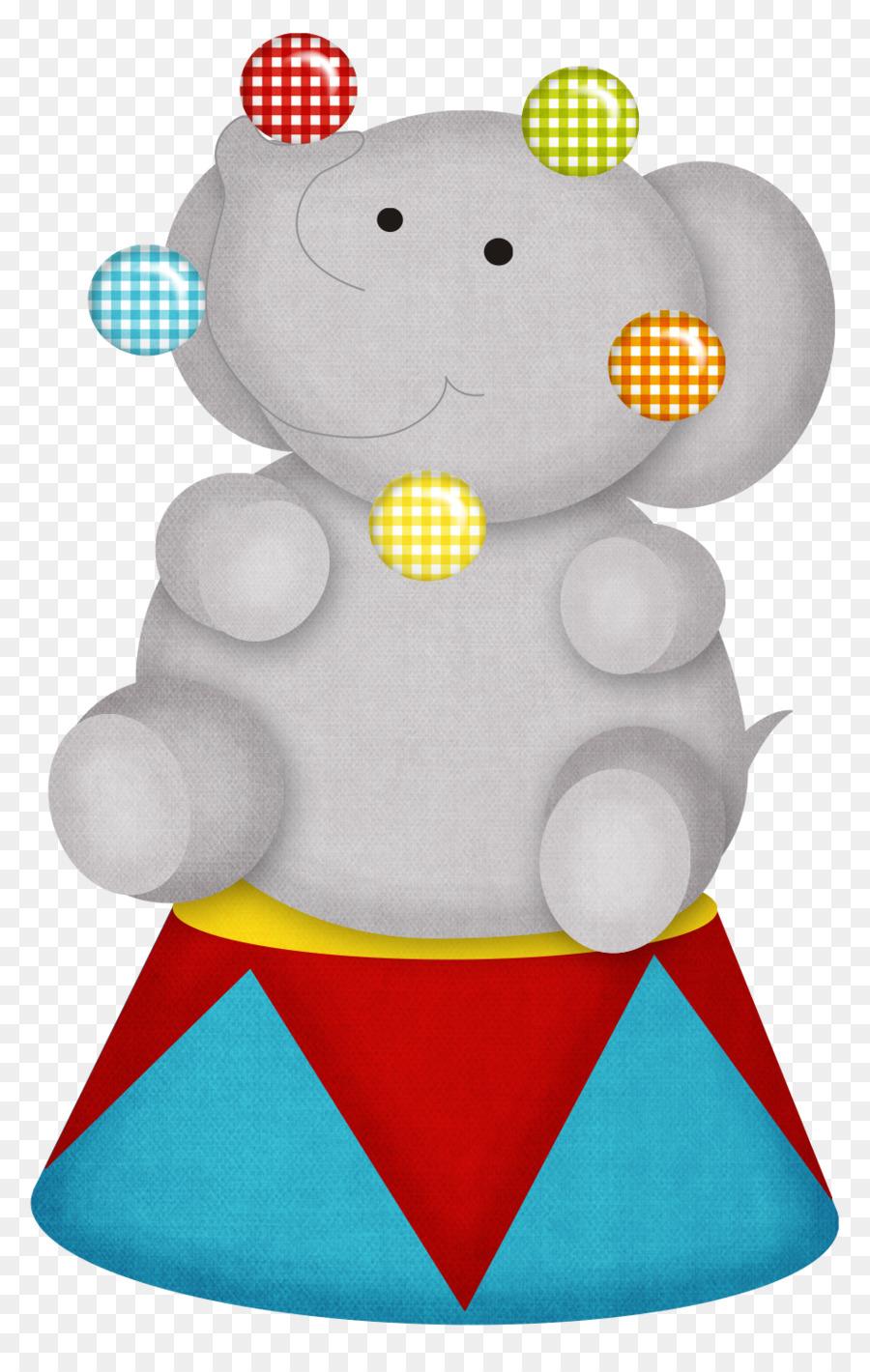 900x1420 Circus Elephant Clown Clip Art
