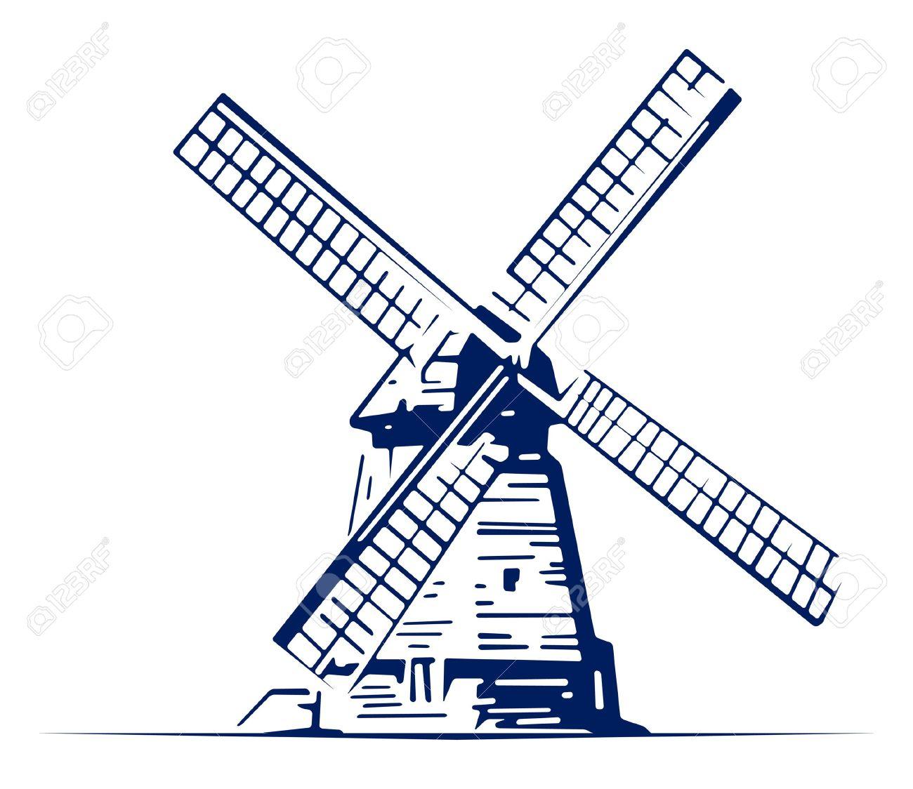 1300x1124 Watermill Clipart Holland Windmill
