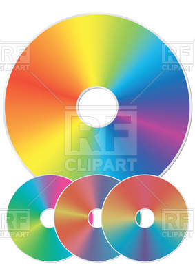 283x400 Blue Ray, Dvd Or Cd Disc With Rainbow Reflection Isolated On White