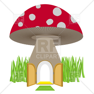 400x400 Amanita House For Dwarf Royalty Free Vector Clip Art Image
