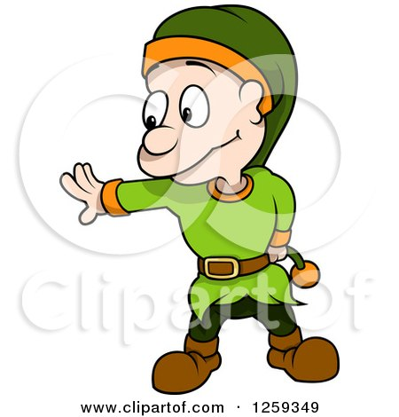 450x470 Clipart Of A Dwarf Gesturing To Stop
