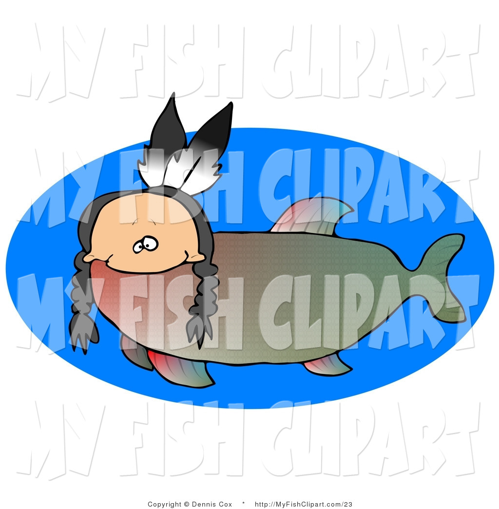 1024x1044 Clip Art Of An Odd Creature That Is Part Fish And Part Native