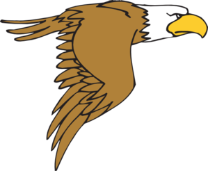 299x246 Flying Bald Eagle Cartoon Clip Art