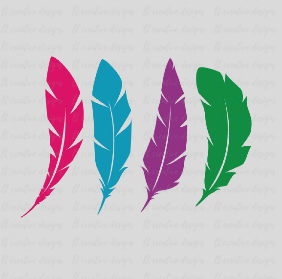 952x940 Latest Feather Clip Art Cartoon Royalty Free Vector Image
