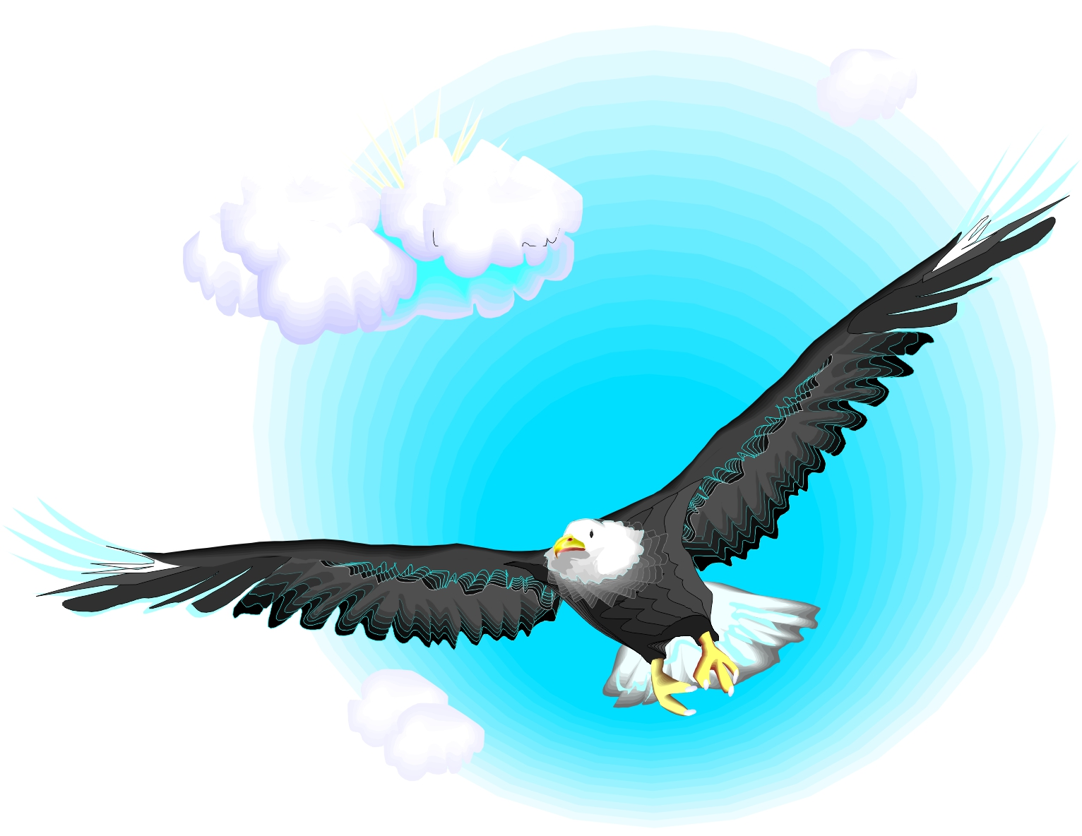 Eagle Flying Clipart at GetDrawings.com | Free for ...