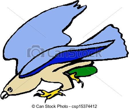 450x380 Flying Eagle Vector Clip Art