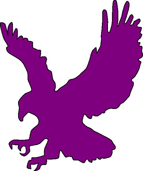 498x598 Purple Flying Eagle Clip Art