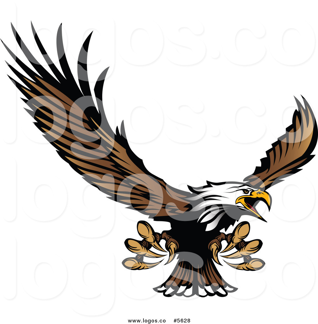 1024x1044 Royalty Free Vector Of A Logo Of A Bald Eagle Flying And Reaching