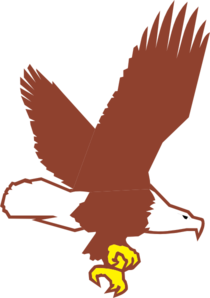 210x298 Bald Eagle Flying Clip Art